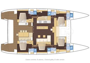Lagoon 620 Cruising Katamaran Yacht Blueprint