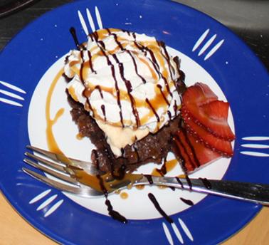 Chocolate Cake Icecream Desert
