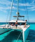 Bahamas Urlaub auf einer Lagune Catamaran (Fotos von Nicolas Claris)