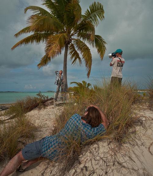 Mode-Shooting auf einem Katamaran