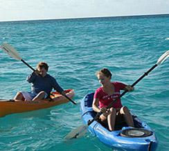 Kajak auf den Bahamas